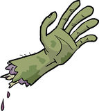 Mano del zombi de la historieta Foto de archivo