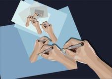 Mano dell'illustrazione della mano Immagini Stock