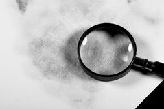 Mano dell'impronta digitale Fotografie Stock