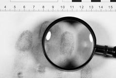 Mano dell'impronta digitale Immagini Stock Libere da Diritti