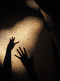 Mano dell'ombra Immagini Stock Libere da Diritti
