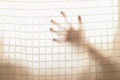 Mano dell'ombra fuori Immagini Stock Libere da Diritti
