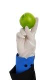 Mano dell'uomo con la mela Fotografie Stock Libere da Diritti