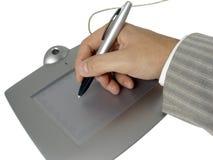 Mano dell'uomo d'affari con la penna Immagine Stock Libera da Diritti