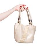 Mano della donna con la borsa fotografia stock libera da diritti