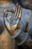 Mano della statua del buddha Fotografie Stock