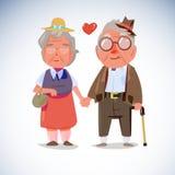 Mano della tenuta delle coppie della gente anziana insieme - Immagine Stock Libera da Diritti