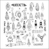 Mano determinada de Rocket dibujada Imagenes de archivo