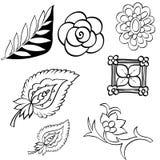 Mano determinada del diseño floral dibujada Foto de archivo libre de regalías