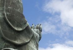 Mano di benedizione di Buddhas Immagini Stock Libere da Diritti