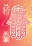 Mano di Fatima con l'occhio Fotografia Stock