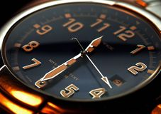 Mano di orologio Fotografia Stock Libera da Diritti