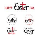 Mano di Pasqua che segna 002 con lettere Fotografia Stock