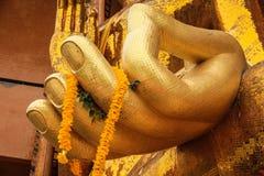 Mano di pietà di Buddha. fotografia stock