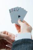 Mano di poker Fotografie Stock