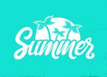 Mano di vettore scritta segnando estate con lettere fotografie stock