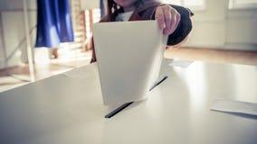 Mano di voto Immagine Stock