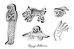 Mano dibujada de diablos y de Mosters para la celebración de Halloween libre illustration