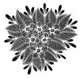 Mano dibujada del ejemplo de las flores Foto de archivo