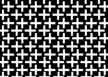 Mano dibujada, fondo monocrom?tico abstracto creado con el signo m?s ilustración del vector