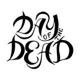 Mano dibujada poniendo letras al día de los muertos Fotos de archivo libres de regalías