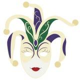 Mano dibujada, vector, EPS, logotipo, icono, crafteroks, ejemplo de la máscara del carnaval de la silueta para diversas aplicacio libre illustration