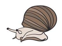 Mano dibujada, vector, EPS, logotipo, icono, crafteroks, ejemplo del vector EPS del caracol de la silueta para diversas aplicacio stock de ilustración