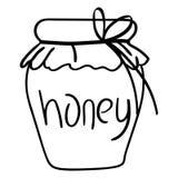 Mano dibujada, vector, EPS, logotipo, icono, crafteroks, ejemplo del vector EPS de la miel de la silueta para diversas aplicacion stock de ilustración
