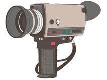 Mano dibujada, vector, EPS, logotipo, icono, ejemplo de la cámara de la película del vintage de la silueta por los crafteroks par ilustración del vector