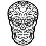 Mano dibujada, vector, EPS, logotipo, icono, ejemplo del vector EPS del cr?neo del az?car de la silueta por los crafteroks para d libre illustration