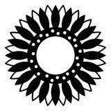 Mano dibujada, vector, EPS, logotipo, icono, ejemplo del vector EPS del girasol de la silueta por los crafteroks para diversas ap ilustración del vector