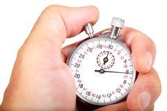 Mano e cronometro immagine stock libera da diritti