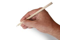 Mano e matita Fotografia Stock Libera da Diritti