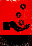 Mano e moneta Fotografia Stock Libera da Diritti