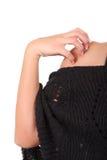 Mano e spalla della donna Immagine Stock
