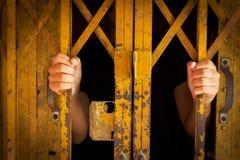 Mano en cárcel Imágenes de archivo libres de regalías