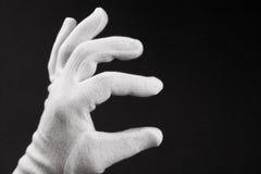 Mano en el guante blanco Imagen de archivo