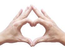 Mano en forma de corazón Foto de archivo libre de regalías