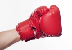 Mano en guantes de boxeo foto de archivo