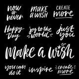 Mano escrita poniendo letras a frases del positivo y de la motivación libre illustration