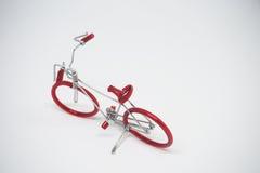 A mano faccia la bici di modello fatta da cavo Immagine Stock Libera da Diritti