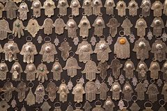 Mano formada palma de los amuletos de Fátima Imagen de archivo