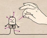 Mano grande - vudú ilustración del vector