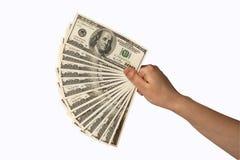 Mano humana con el dinero Imagen de archivo libre de regalías
