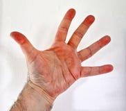 Mano humana masculina que muestra diversos gestos y símbolos fotografía de archivo libre de regalías