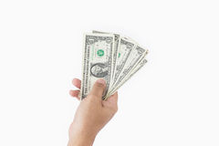 Mano humana que da el dinero Imagen de archivo libre de regalías