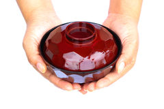Mano humana que se considera de cerámica Fotografía de archivo libre de regalías