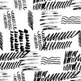 Mano inconsútil del modelo dibujada con los movimientos de un cepillo Ejemplo abstracto del vector de las pinceladas libre illustration