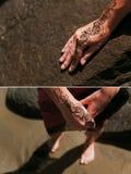 Mano india de la alheña Fotos de archivo