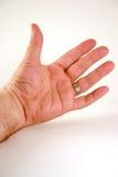 Mano izquierda del hombre Foto de archivo libre de regalías